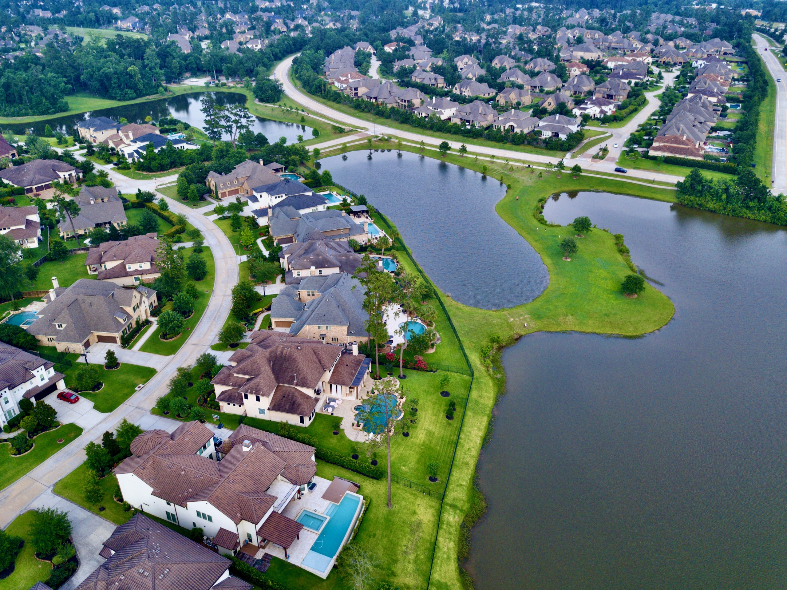 The Woodlands Aerial Drone Image